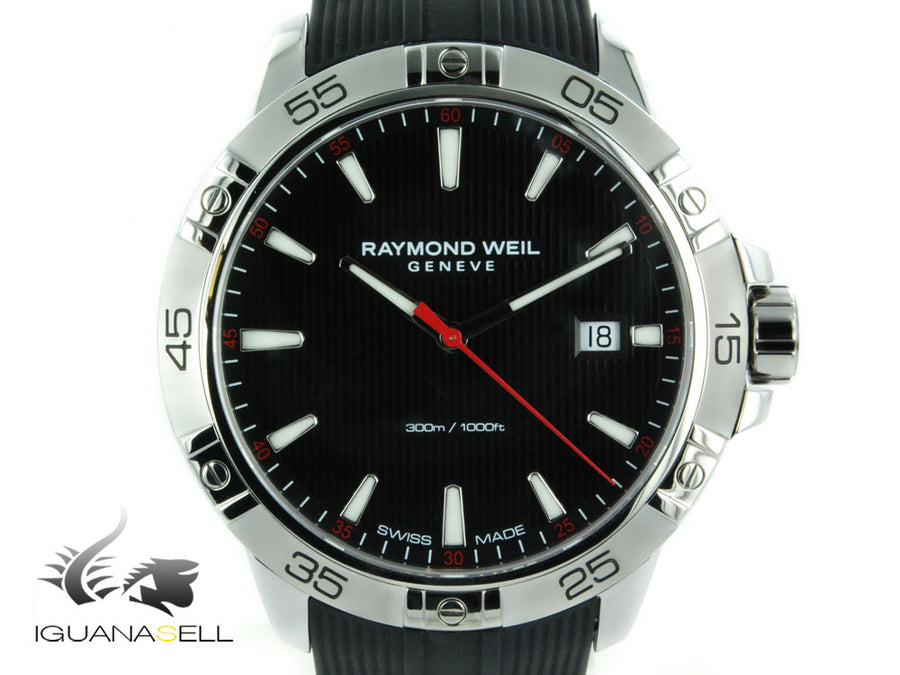Raymond Weil Tango 300 Quartz watch, Black, Day, 41 mm, 30 atm, 8160-SR2-20001