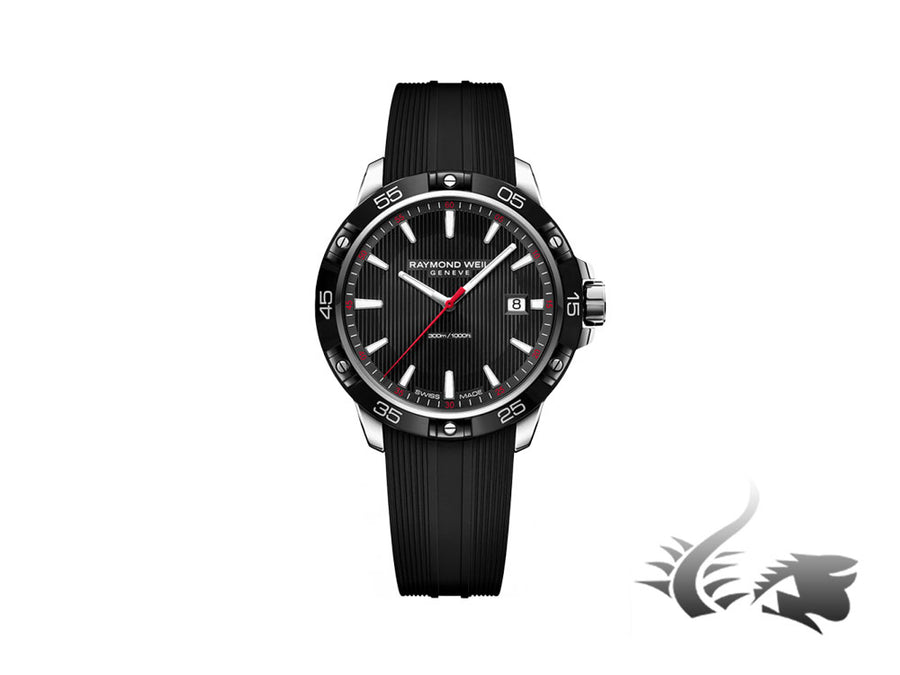 Raymond Weil Tango 300 Quartz watch, PVD, Black, 41mm, Day, 8160-SR1-20001