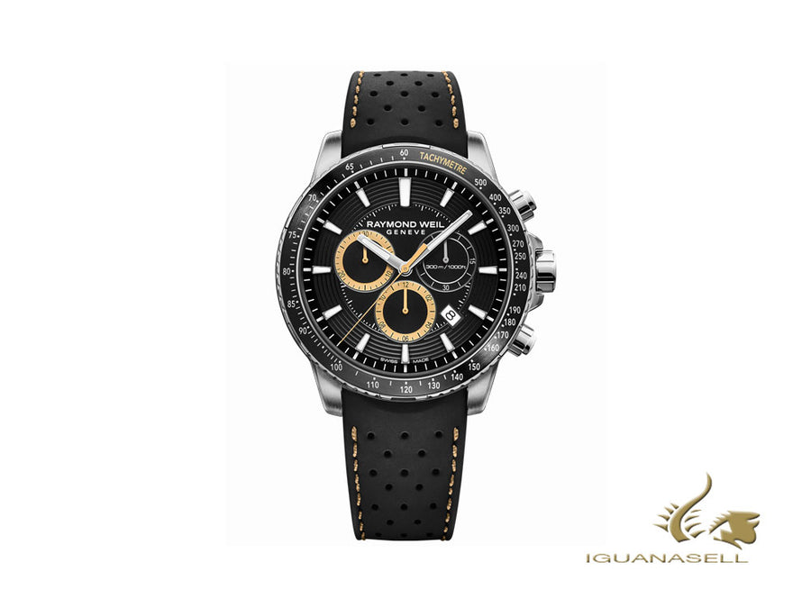 Raymond Weil Tango Quartz Watch, Black, 43 mm, Chronograph, 8570-SR1-20701 Raymond Weil Quartz Watch