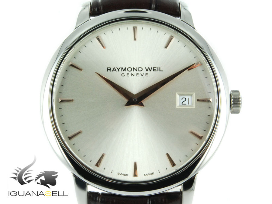 Raymond Weil Toccata Quartz watch, Silver, 39 mm, Day, 5488-SL5-65001