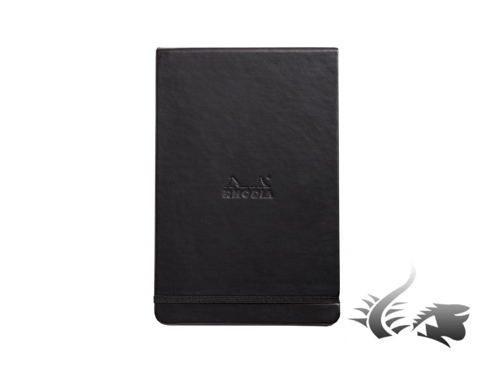 Rhodia Ice Notepad, A5, Hard cover, Dotted, Black, 192 pages, 118379C Notepad