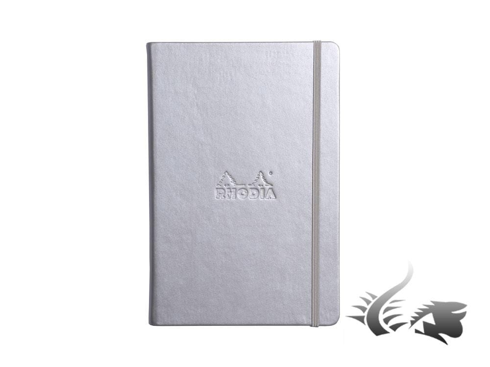Rhodia Ice Notebook, A5, Hard cover, Dotted, Silver, 192 pages, 118767C Notebook