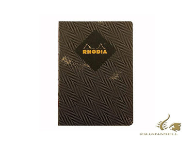 Rhodia Heritage Chevrons Notebook, A5, Soft cover, Ruled, Black, 160 pages