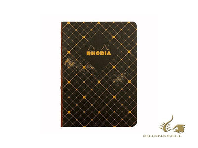 Rhodia Heritage Quadrille Notebook, A5, Soft cover, Ruled, Black, 160 pages