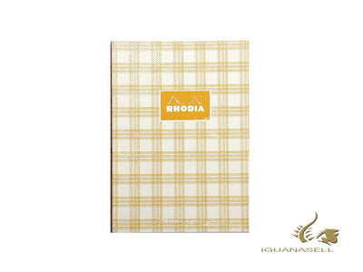 Rhodia Heritage Tartan Notebook, A5, Soft cover, Ruled, White, 160 pages