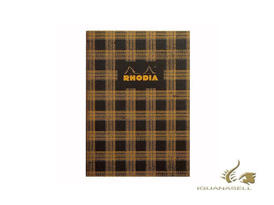 Rhodia Heritage Tartan Notebook, A5, Soft cover, Squared, Black, 64 pages