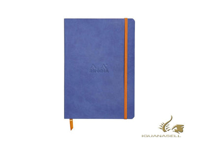 Rhodia-Rhodiarama Notebook, A5, Soft cover, Dotted, Blue, 160 pages, 117458C