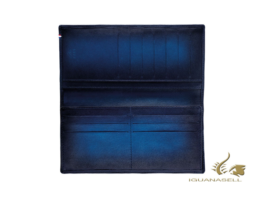 S.T. Dupont Atelier Wallet, Midnight Blue, Leather, 13 Cards, Coin case, 190411