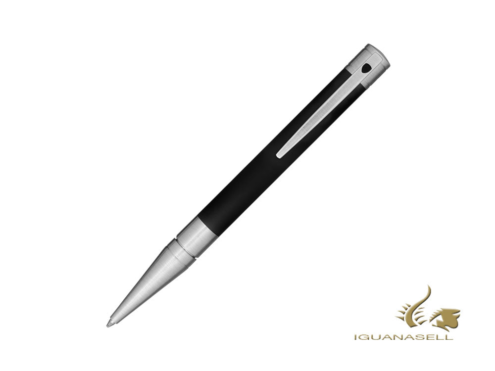 S.T. Dupont D-Initial Ballpoint pen, Brass, Chrome Trim, Black, 265207