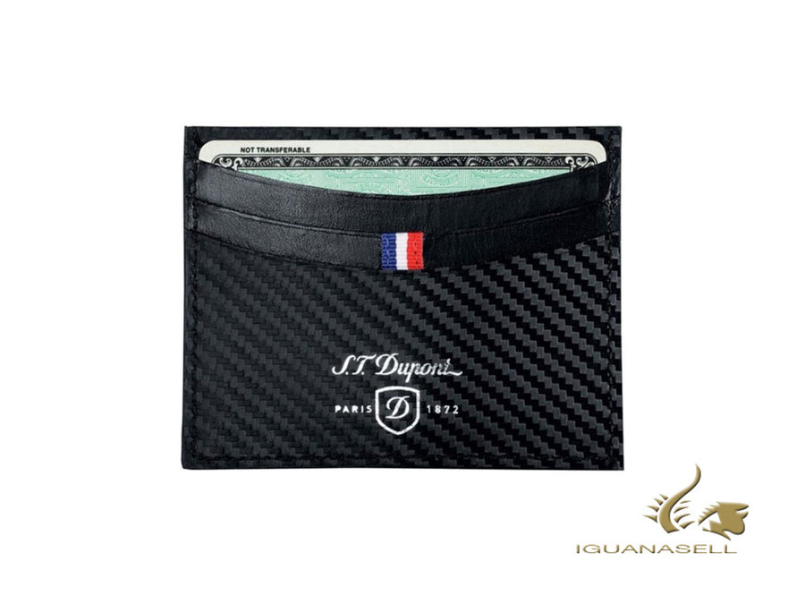 S.T. Dupont Défi Carbone Credit card holder, Leather, Black, 6 Cards,170006
