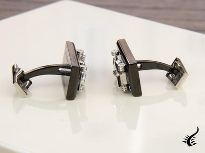 S.T. Dupont Défi McLaren Cufflinks, Stainless steel, PVD, 5526, Limited Edition S.T. Dupont Cufflinks