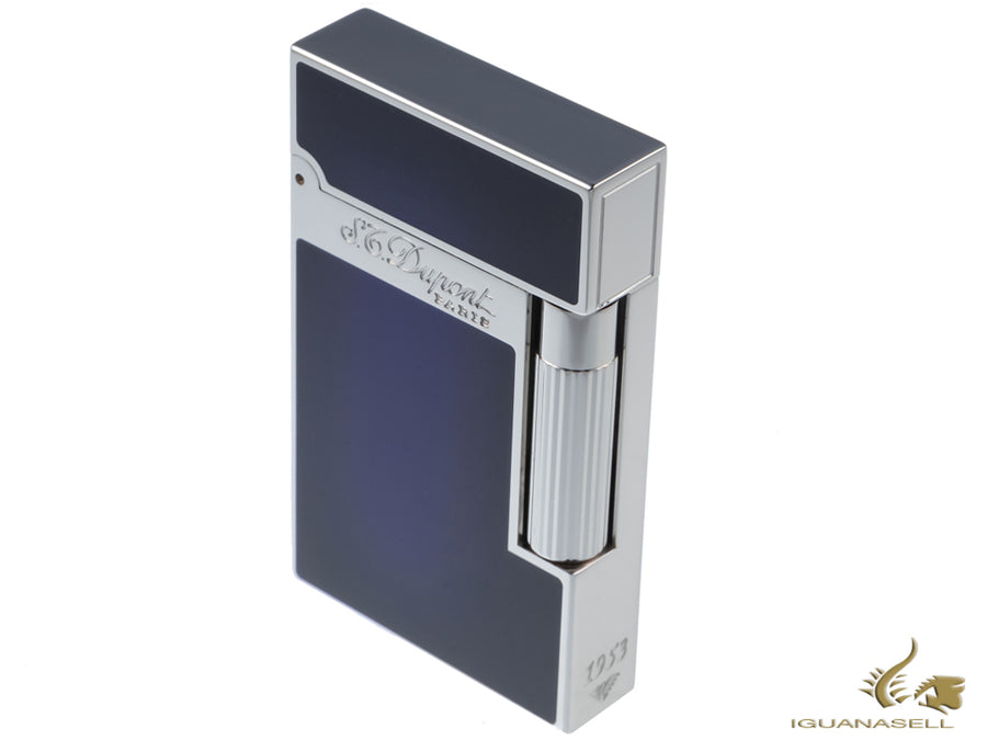 S.T. Dupont Ligne 2 Sunburst Atelier Lighter, Lacquer, Palladium trim, Blue S.T. Dupont Lighter