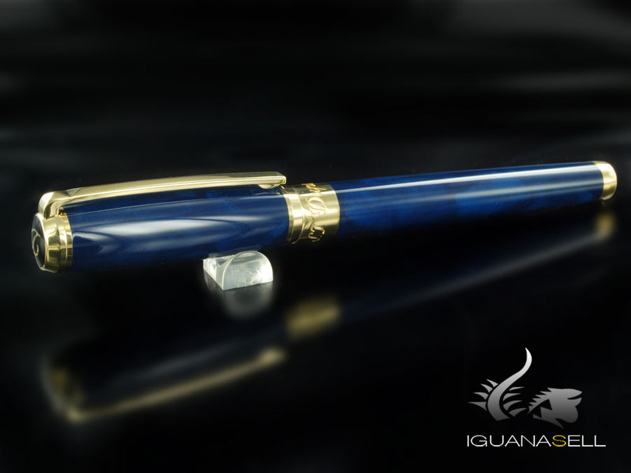 S.T. Dupont Line D Atelier Fountain Pen, Chinese lacquer, Gold trim