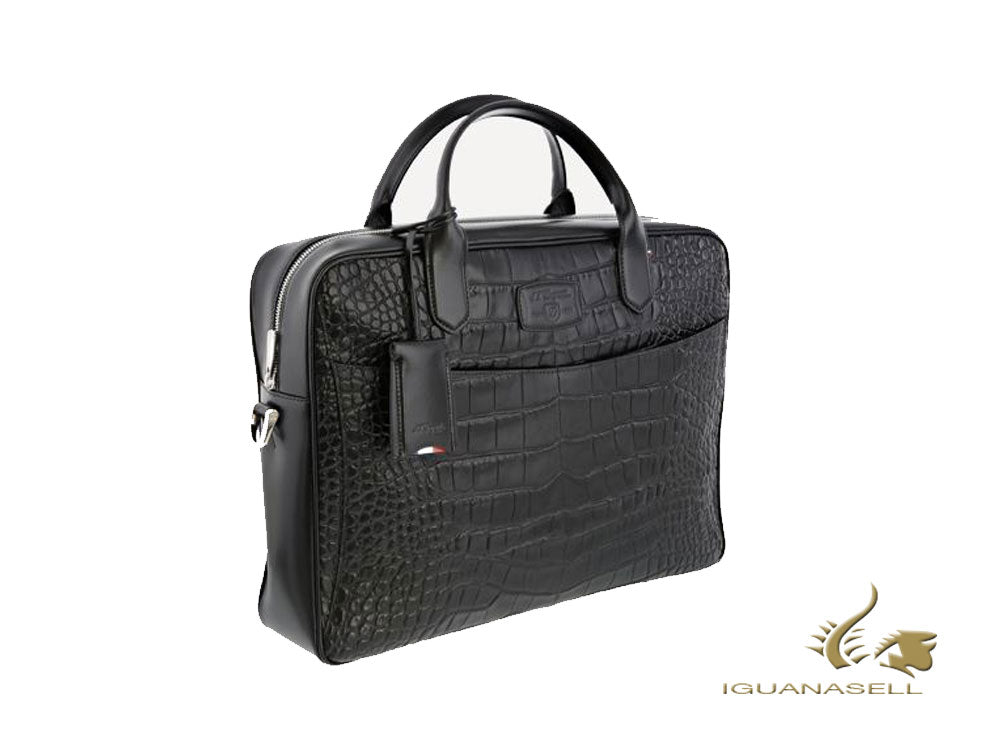 S.T. Dupont Line D Croco Dandy Document case, Leather, Black, Zip, 181063