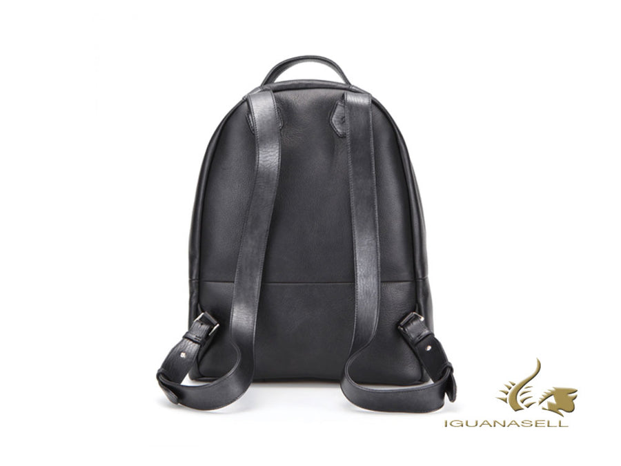 S.T. Dupont Line D Soft Diamond Backpack, Leather, Grey, Zip, 181257 S.T. Dupont Backpack