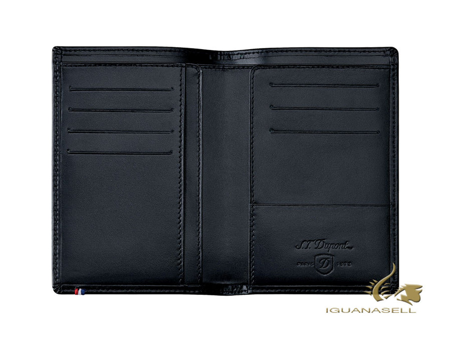 S.T. Dupont Line D Wallet, Black, Leather, 7 Cards, RFID Protection, 180047 S.T. Dupont Wallet