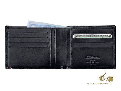 S.T. Dupont Line D Wallet, Black, Leather, 8 Cards, 180003