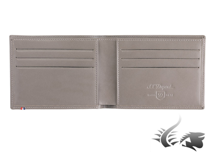 S.T. Dupont Line D Wallet, Grey, Leather, 6 Cards, 180700
