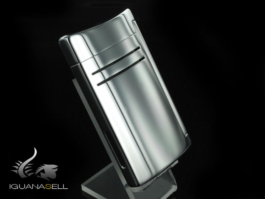 S.T. Dupont Maxijet Lighter, Lacquer, Silver, 20107N S.T. Dupont Lighter