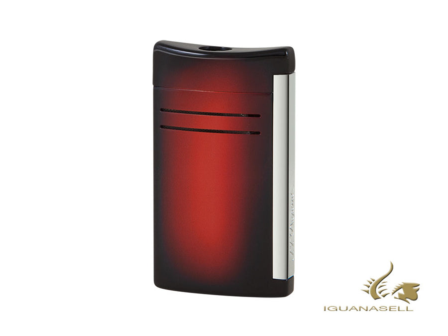 S.T. Dupont Maxijet Sunburst Lighter, Chrome, Red, 020165N S.T. Dupont Lighter