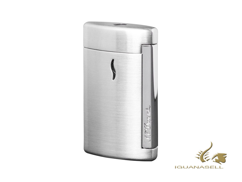 S.T. Dupont Minijet Lighter, Lacquer, Grey matt, Chrome Trim, 010504
