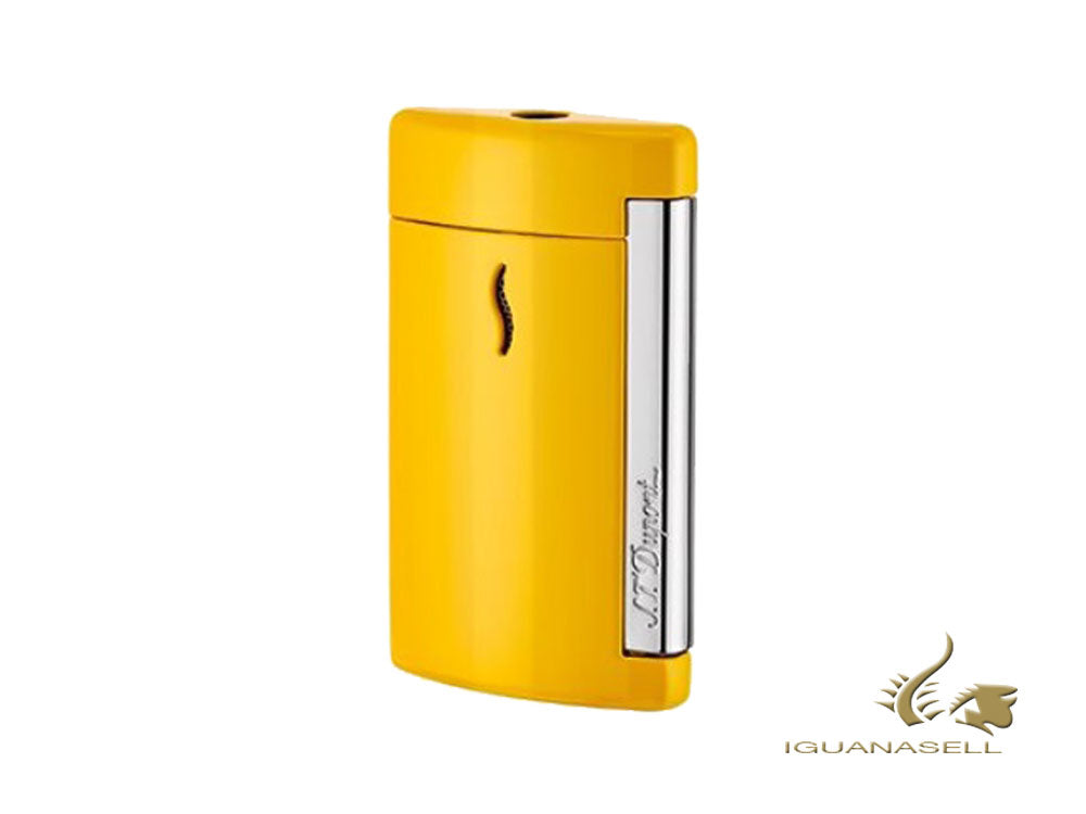 S.T. Dupont Minijet Yellow Pop Lighter, Lacquer, Chrome Trim, 010515