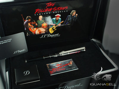 S.T. Dupont Rolling Stones Fountain Pen, Palladium trim, Limited Edition