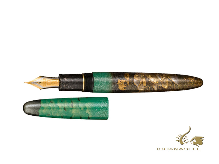 Sailor Taki to Higuma Waterfall and Brown Bear Fountain Pen, Limited Ed.