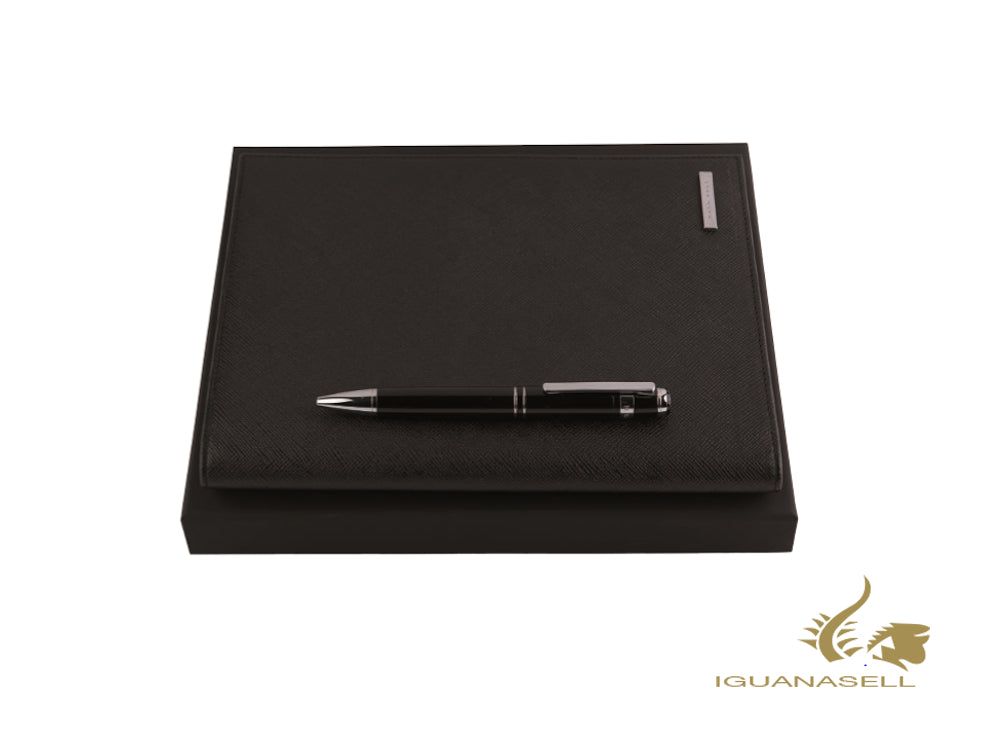 Set Hugo Boss Fusion Classic Ballpoint pen and Conference folder A5, HPBM087A