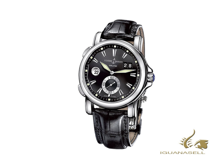 Ulysse Nardin Dual Time GMT Big Date Automatic Watch, Black, 42 mm, 243-55/92
