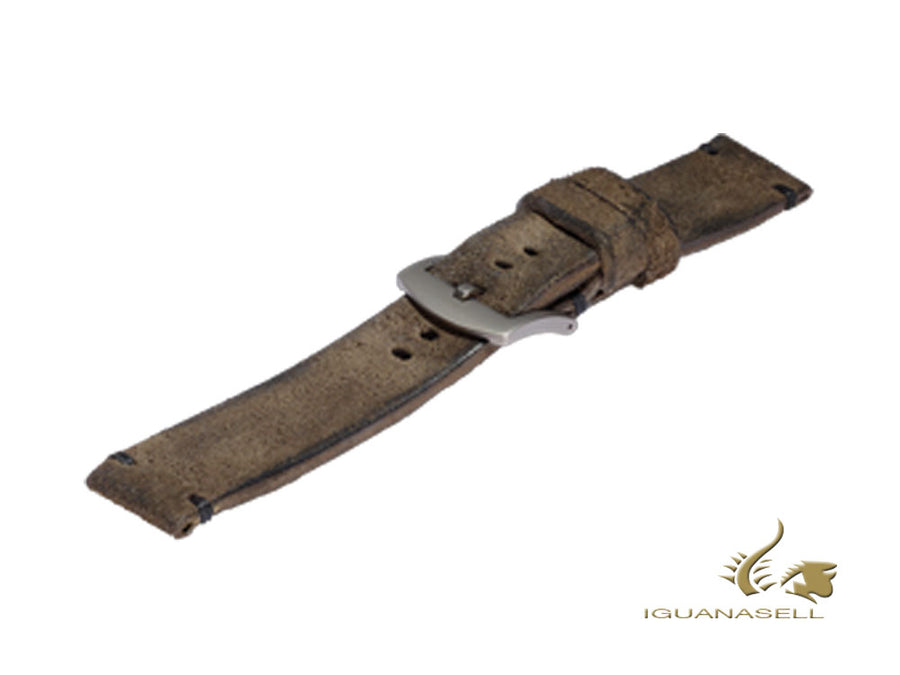 U-Boat Accesorios Strap, Aged Leather, Brown, 20 mm., Stainless Steel, 7663