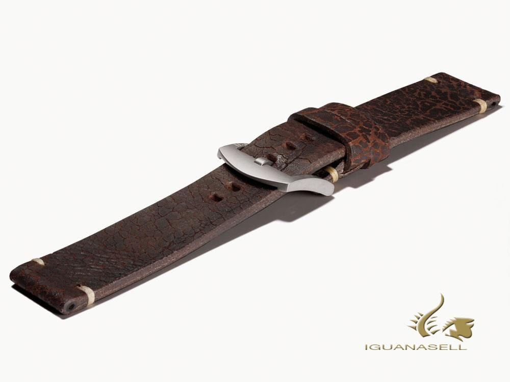 U-Boat Accesorios Strap, Aged Leather, Brown, 23mm., Stainless Steel, 6970 Strap