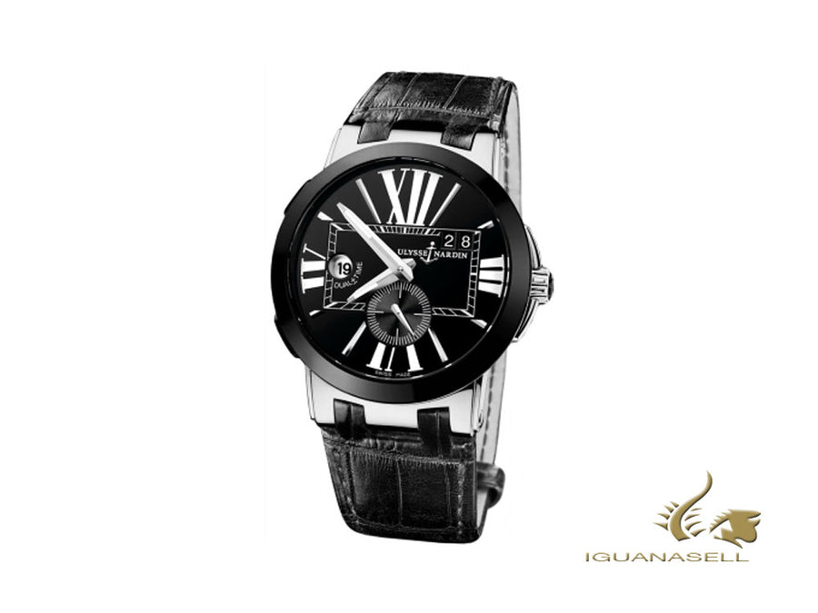 Ulysse Nardin Executive Dual Time Automatic Watch, Black, 43 mm, 243-00/42