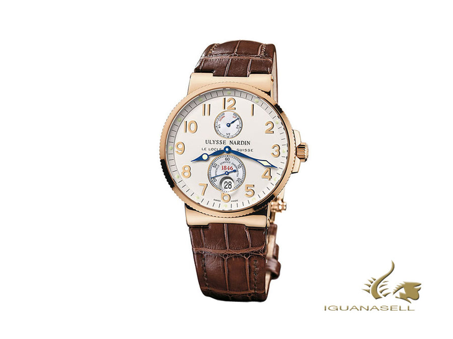 Ulysse Nardin Marine Chronometer 41 mm Automatic Watch, 18Kt Rose gold, 266-66