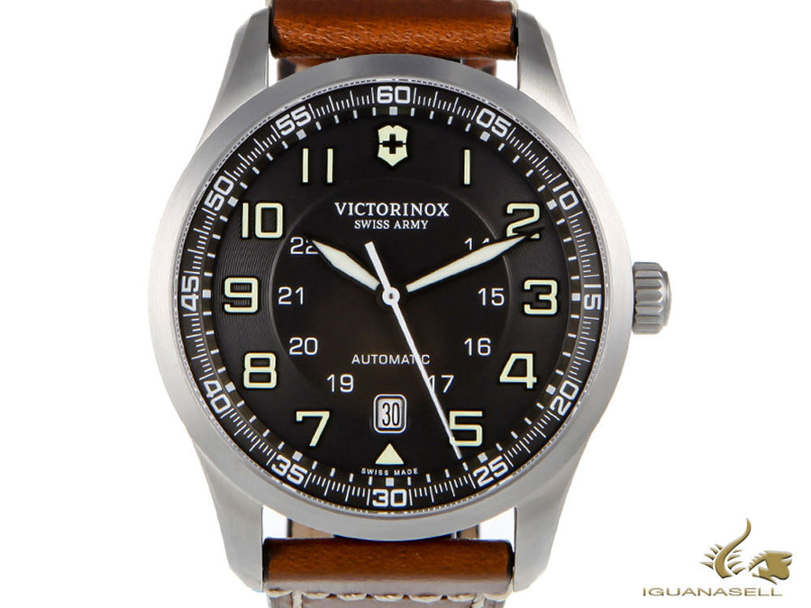 Victorinox Airboss Automatic Watch, Stainless Steel 316L, Grey, 42 mm, 10 atm Victorinox Automatic Watch