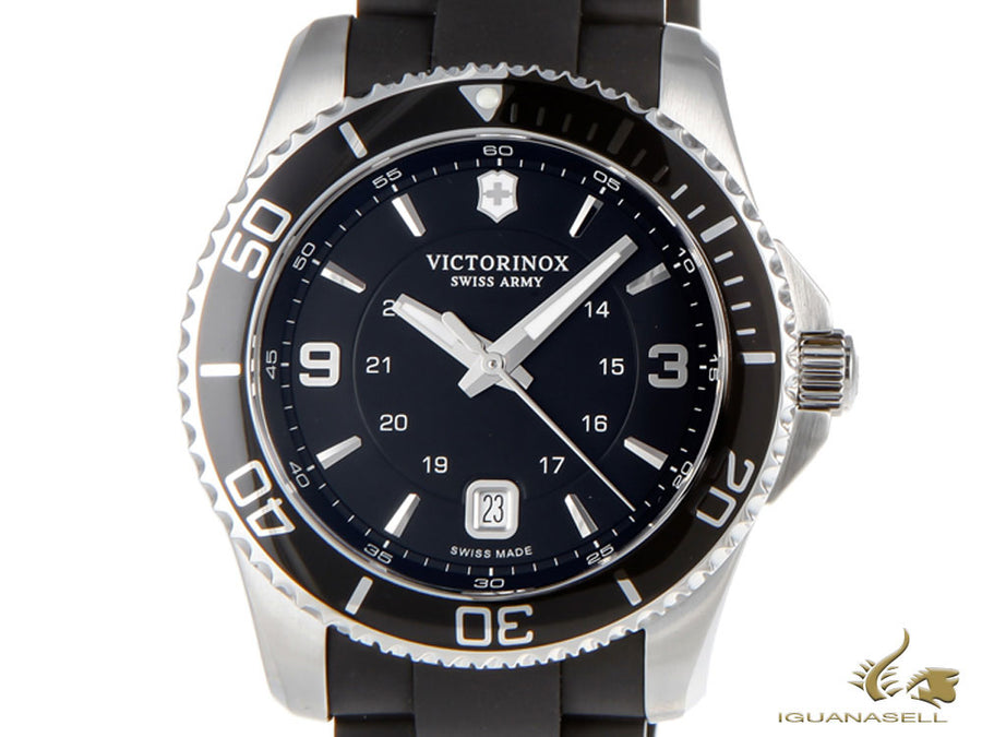 Victorinox Maverick Quartz Watch, Stainless Steel 316L, Black, 43 mm, V241698 Victorinox Quartz Watch