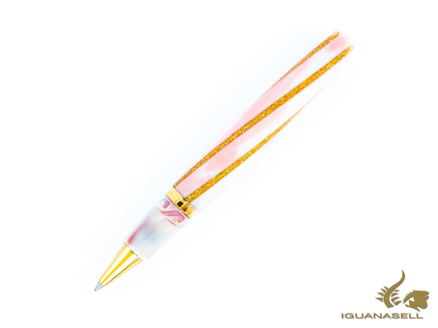 Visconti Divina Fashion Rollerball pen, Resin, Pink/Gold, Palladium, KP18-22-RB Visconti Rollerball pen