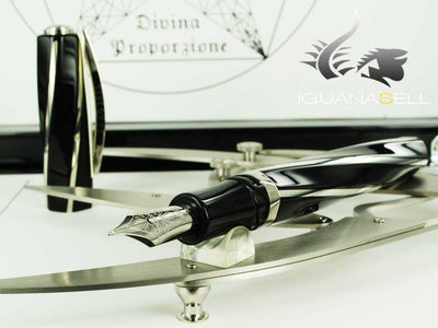 Visconti Divina Proporzione Fountain Pen, Lucite and silver trim, 26398