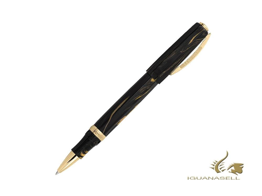 Visconti Medici Golden Black Rollerball Pen, Black, Gold, KP17-07-RB Rollerball pen