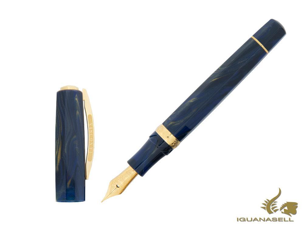 Visconti Medici Golden Blue Fountain Pen, Blue, Gold, KP17-05-FP-ESP
