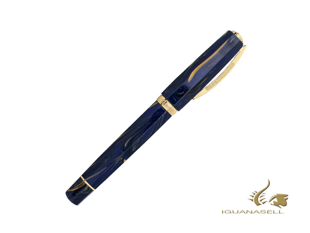 Visconti Medici Golden Blue Rollerball pen, Blue, gold plated, KP17-05-RB