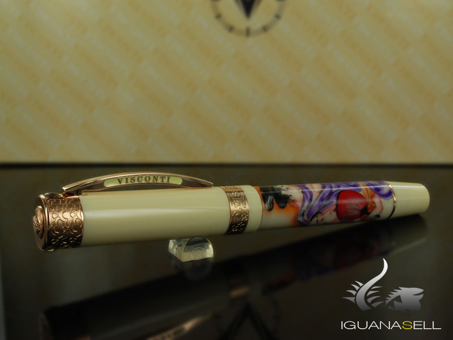 Visconti Shunga Fountain Pen, Rose gold trim, Limited Edition, 735ST01PD