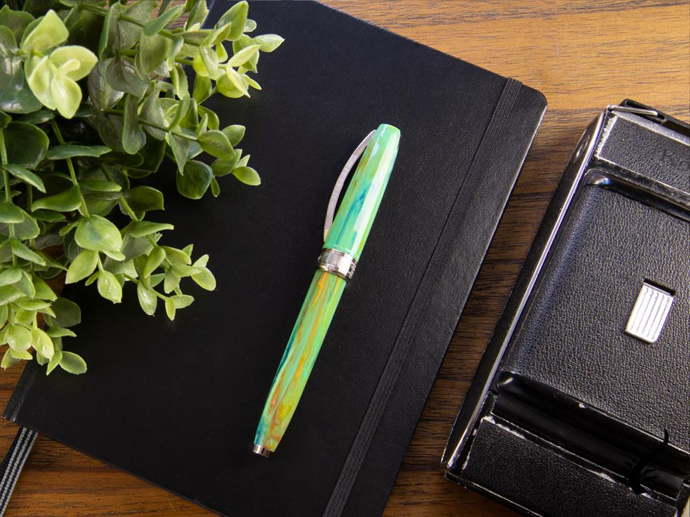 Visconti Van Gogh Irises Fountain Pen, Resin, Palladium trim