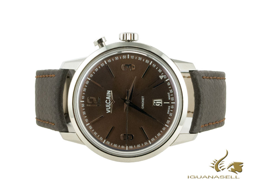 Vulcain 50s Presidents Tradition Manual Watch, V-11, Chocolat, 110151A45.BAC131 Vulcain Automatic Watch