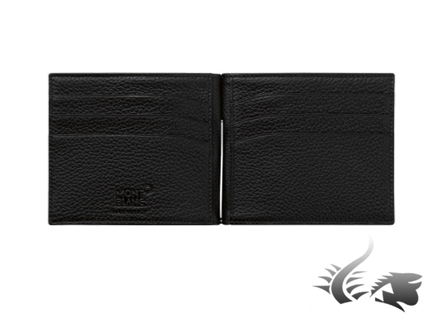 Montblanc Meisterstück Soft Grain Wallet, Black, Leather, 4 Cards, 114461