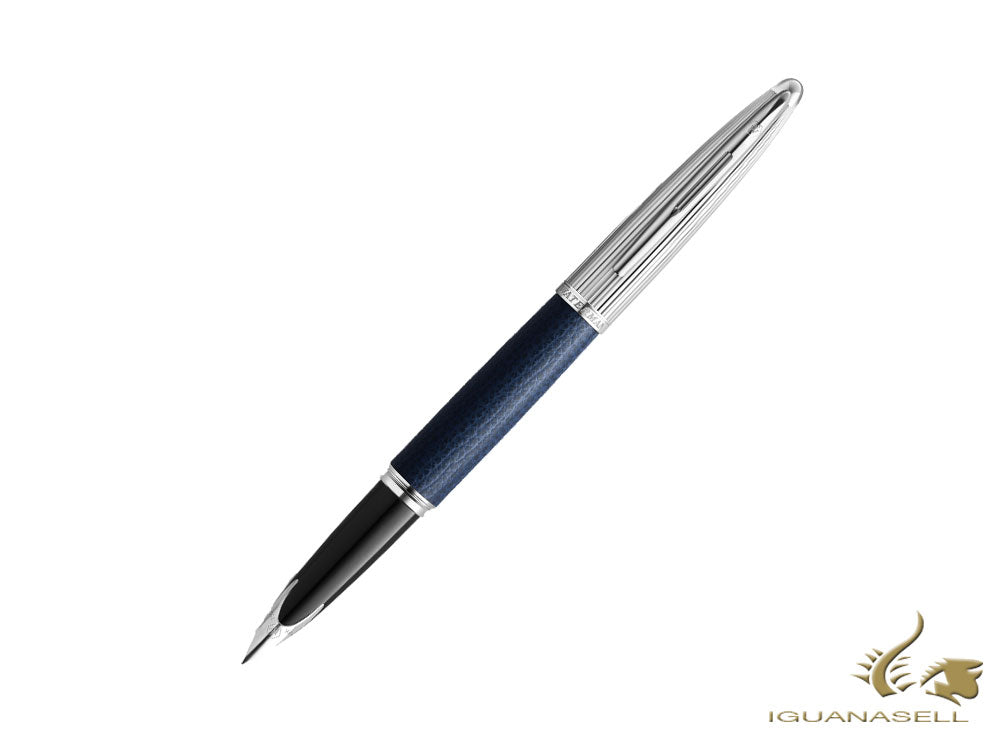Waterman Carène Leather Fountain Pen, Blue, Limited Edition, 2099568