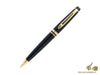 Waterman Expert Ballpoint pen, Lacquer, Gold trim, Black, S0951700