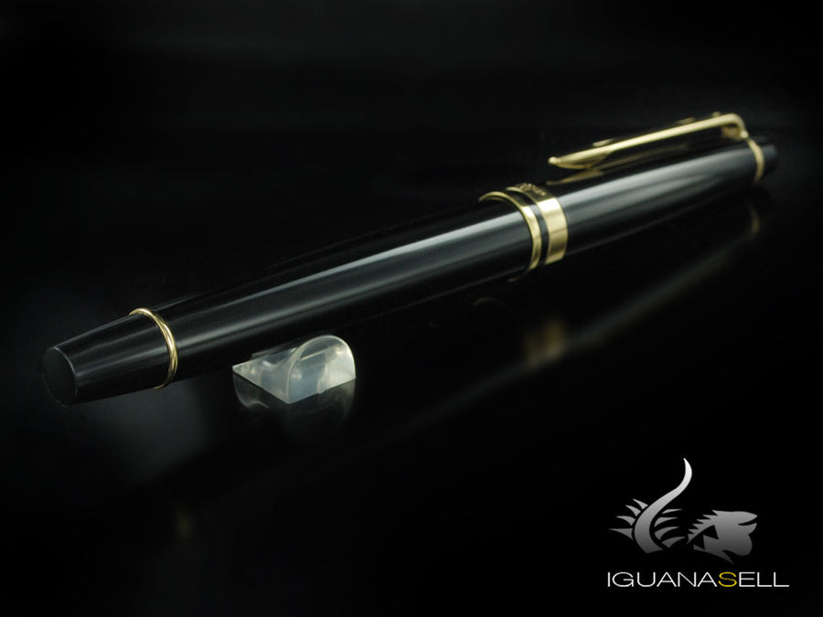 Waterman Expert Fountain Pen, Lacquer, Gold trim, Black, S0951660