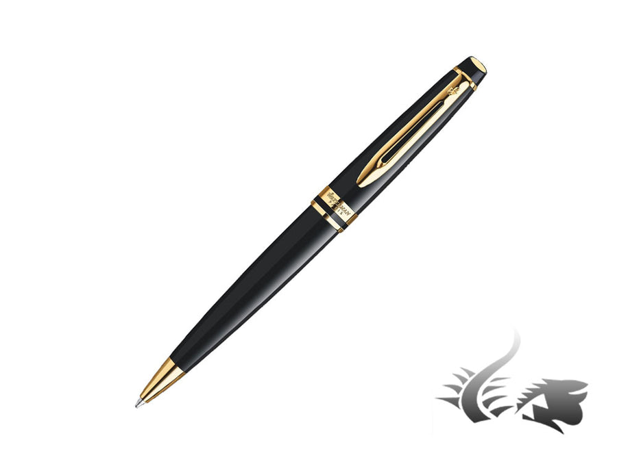 Waterman Set Expert GT Black Ballpoint pen, Lacquer, Gold trim, Black, 1937584