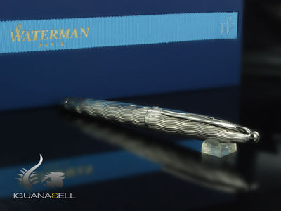 Waterman Carène Fountain Pen, Silver, 18k Gold Ruthenium Plated